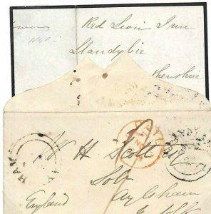 GB WALES *Llandebie* Carmarthens Note Ex 'Red Lion Inn' Unusual origin 1848 N300