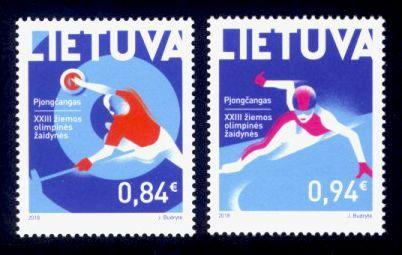 Lithuania Sc# 1121-2 MNH Winter Olympic Games 2018
