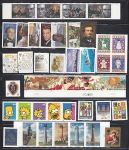 US 2009 Commemorative Year Set with 41 Stamps MNH