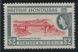 British Honduras SG 189 SC # 154 MVLH  perf 13½ Hawkesworth Bridge see scan