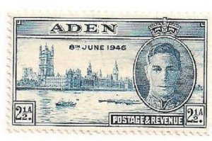 Aden Stamp- 1946 - Mint/H- 2 1/2A