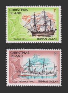 CHRISTMAS ISLAND 1972. SCOTT # 39 - 40. UNUSED