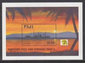 Fiji 847 Ship Souvenir Sheet MNH VF