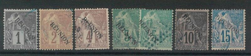 55042 - FRENCH COLONIES: REUNION - STAMPS:  LOT of EARLY  USED STAMPS  - NICE!