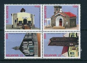 [SM124] St. Martin Maarten 2013 Churches MNH