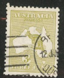 Australia Scott 47 Used Kangaroo & Map 1915-24
