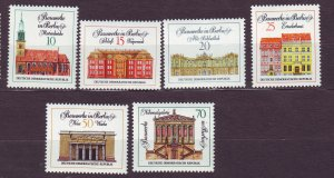 J23295 JLstamps 1971 germany DDR set mnh #1287-92 buildings