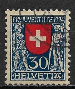 1924 Switzerland B32  30c Coat of Arms used SCV$11.00