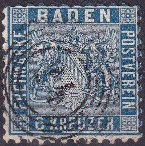 Baden #16 F-VF Used  CV $235.00 (Z9474)