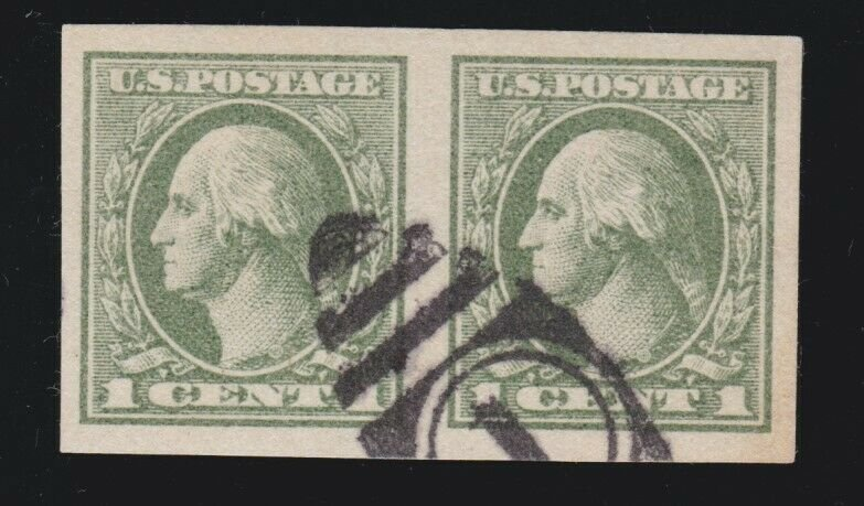 US 531 1c Washington Used Imperf Pair w/ PSE Cert Graded 90 XF SMQ $85
