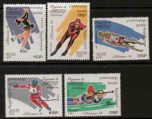 CAMBODIA SG1351/55 1994  WINTER OLYMPIC GAMES MNH