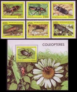 Guinea Insects 6v+MS MI#1894-1899+Block 535