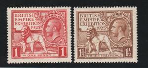 GREAT BRITAIN 1925 KGV EMPIRE EXHIBITION SET