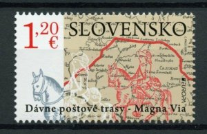 Slovakia Europa Stamps 2020 MNH Ancient Postal Routes Services Horses 1v Set