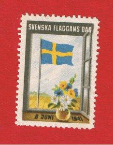 Sweden 1941 Flag Day Poster Stamp    Free S/H