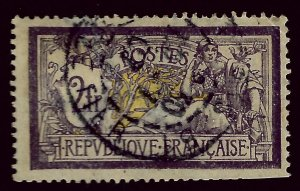 France SC#126 Used F-VF hr/trimmed perfs SCV$75.00...Worth a Close look!!
