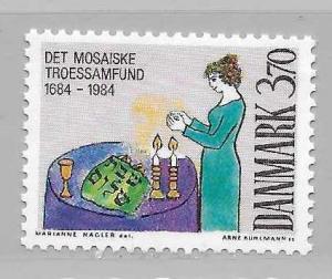 Denmark 766 1984 300th Jewish Community single MNH