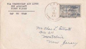 1951, 1st Flt., PBY Aircraft, Yap, Guam to Montclair, NJ, See Remark (43689)