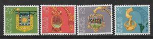 SWITZERLAND  B488-B491 MNH SONNE INN SIGN,  SET  1982