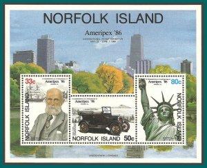 Norfolk Island 1986 Ameripex, MS, MNH  384a,SGMS388