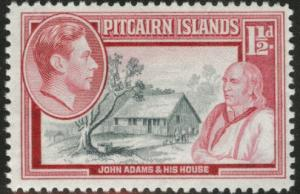 Pitcairn Islands Scott 3 MH* 1940 stamp