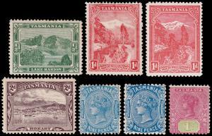 Tasmania Scott 994-98, 98c, 99 (1902-03) Mint H/LH F-VF Complete Set, CV $122 M