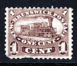 NEW BRUNSWICK CANADA Queen Victoria 1860-63 1 Cent Purple SG 8 MINT