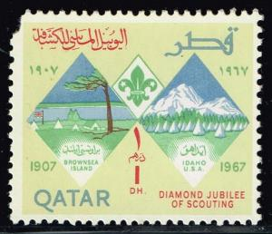 Qatar #125 60th Anniversary of the Boy Scouts; MNH (0.75)
