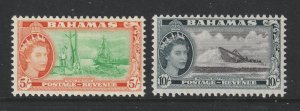 Bahamas the MH 5/- & 10/- from the 1954 set