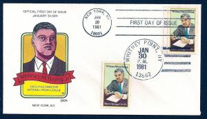 UNITED STATES FDC 15¢ Young DUAL 1981 Collins H-P N301