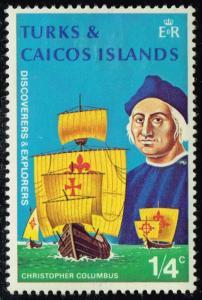 Turks & Caicos #253 Chirstopher Columbus; Unused (0.25)