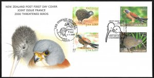 New Zealand # 1688 + 1684 First Day Cover Joint Issue France