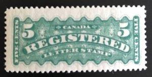 Canada #F2b, VF-NH single rare in this fresh condition. CV : $960.00