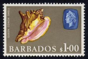 Barbados #279a Queen Conch Shell; Unused (2Stars)