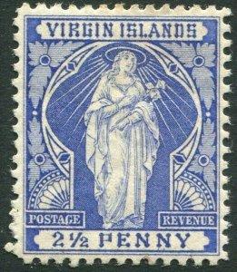 BRITISH VIRGIN ISLANDS-1889 2½d Ultramarine Sg 45 MOUNTED MINT V33622
