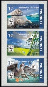 FINLAND 2016 WWF BIRDS INSECTS POLAR BEAR WILD ANIMALS ARCTIC S/A [#1601]