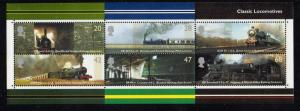 Great Britain Sc 2177a 2004 Classic Steam Locomotives  stamp sheet NH
