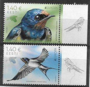 2019    ESTONIA  -  EUROPA  -  BIRDS  -   MNH