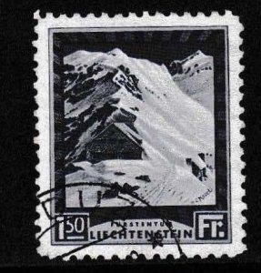 Liechtenstein 1930 Scott 106 1.50fr. From the Long Set Mountain Cottage VF/USED
