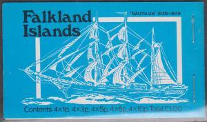 Falkland Islands - 1978 Ships £1 Complete Booklet Nautilus