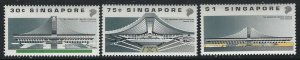 Singapore 1989 Indoor Sports Arena set Sc# 556-58 NH