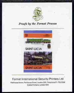 St Lucia 1986 Locomotives #5 (Leaders of the World) $1 4-...