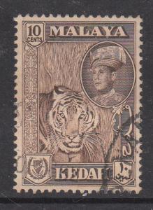 Malaya Kedah 1959 Sc 100 10c Used