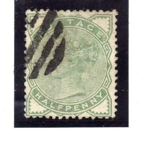 1880 -1881 Queen Victoria ½P green used sg 165