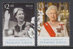 Niue 876-877 Queen Elizabeth II MNH VF