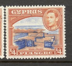Cyprus 1938 Early Issue Fine Mint Hinged 1/4p. 303634