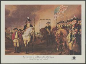 #1686i BICENTENNIAL SOUVENIR SHEET USA / 18¢ OMITTED ON e MAJOR ERROR BS2791