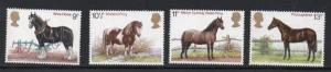 Great Britain Sc 839-42 1978 British Horses stamp set mint NH