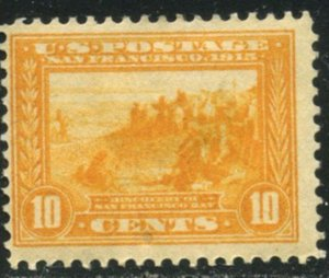 US Sc#400 1913 10c Panama-Pacific F-VF Centered OG Mint Hinged with Remainder