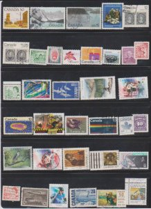 LOT OF DIFFERENT STAMPS OF CANADA USED(35) LOT#321